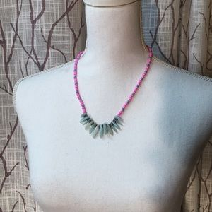 Jewelry - Agate neon necklace set